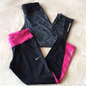 Bundle of 2 Nike Crop leggings, size XS